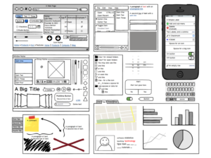 product mockups and wireframes